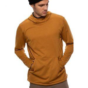 Bluză Termică Mid-Layer 686 Mission Grid Fleece Hoody Golden Brown