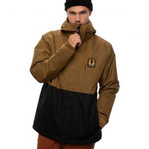 Geacă Ski și Snowboard 686 Foundation Insulated Jacket Gold Brown Melange Colorblock