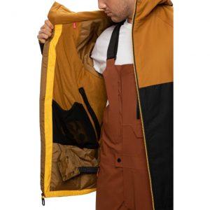 Geacă Ski și Snowboard 686 Static Insulated Jacket Golden Brown Colorblock