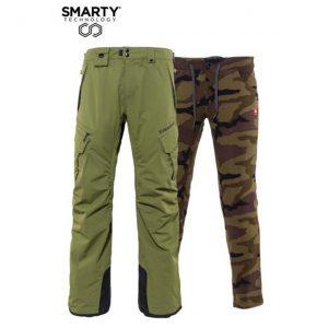 Pantaloni Ski și Snowboard 686 Smarty 3-in-1 Cargo Pant Surplus Green