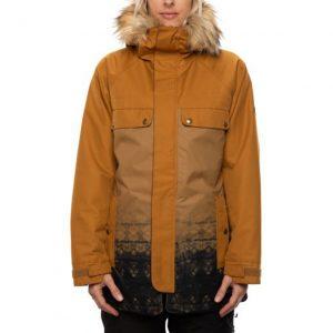 Geacă Ski și Snowboard 686 Dream Insulated Jacket Gold Brown Tie Dye Slub